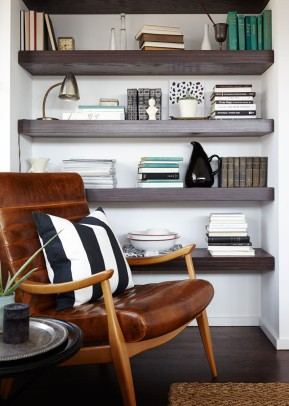 Shelf and tabletop accessories provided by Garden Style Living and design by LeanneFordInteriors.com as seen in Lonny Magazine