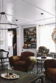Antique office wood chair and coffee table accessories provided by Garden Style Living as sesen in Country Living