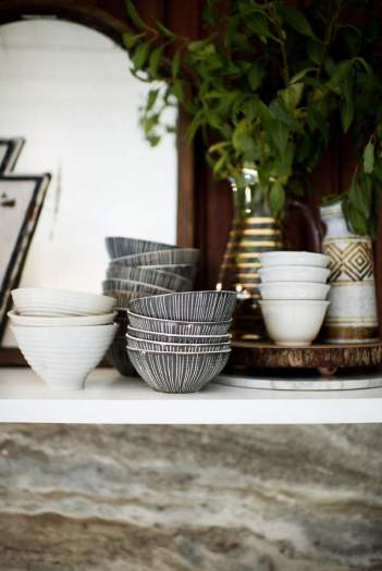 HGTV Restored by the Fords / pottery vase, restaurant ware cups, pitcher : Garden Style Living / Design : Leanne Ford Interiors / Photo : Alexandra Ribar