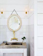 Domino Magazine / Mirror and soap dish : Garden Style Living / Design : Leanne Ford Interiors / Photo : Nichole Franzen