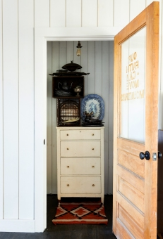 Chest, crates, and accessories from: Garden Style Living / Pictured from: HGTV's Restored by the Fords / Design: Leanne Ford Interiors / Photo: Alexandra Rhibar