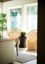 Vintage Brazilian Wood Bowl from: Garden Style Living / Pictured from: HGTV's Restored by the Fords / Design: Leanne Ford Interiors / Photo: Alexandra Ribar