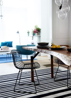 Set of Six Vintage Bertoia Chairs from: Garden Style Living / Pictured from: HGTV's Restored by the Fords / Design: Leanne Ford Interiors / Photo: Alexandra Ribar